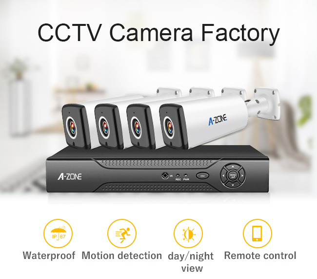 Home 1080p 4 Night Vision Cctv Cameras With Dvr Recorder Kit 2 Megapixel