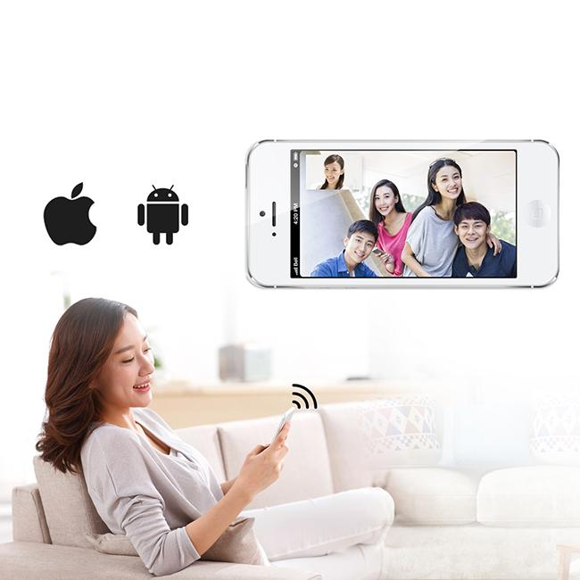 Smart Wireless Wifi Visual Intercom Doorbell 1/4 CMOS Sensor Motion Detection