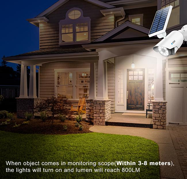 Bullet Camera Solar Led Motion Sensor Light 8 Pcs Led Lights With Night Sensor