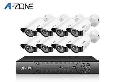 China 1080P AHD CCTV Kit Night Vision , 8 Channel Cctv Kit For Home Metal Bullet supplier