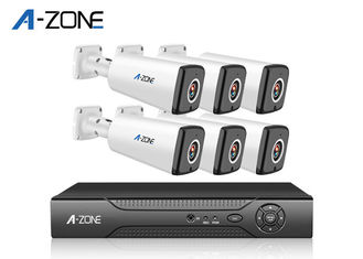 China Digital Infrared AHD CCTV Kit , 1.3MP 6 Channel Nvr Camera System Home Security supplier