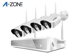China 2MP Bullet 4ch Wifi Security Camera System With nvr  Ce FCC RoHS Certificate supplier
