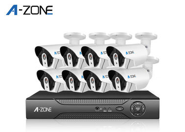 Outdoor 2MP 8 Camera Security System With Dvr High Resolution 1/4""