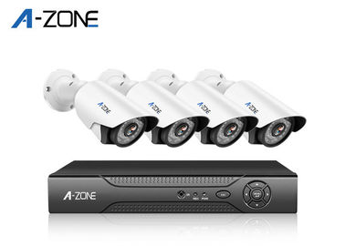 Waterproof 4CH IP CCTV Camera Kits 4 Channel Ip Nvr 20m IR Range