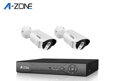Indoor Surveillance 2Ch Poe Home Surveillance System , 2Mp Poe Ip Camera System