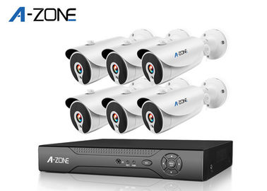 Remote 6 Channel IP CCTV Camera Kits 2MP High Definition Security Camera System