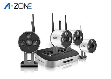 HD 1 Megapixel 4 Channel Wireless P2p Nvr Kit Ip Camera Auto Mode Matching