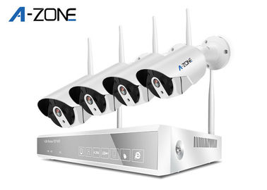 2MP Bullet 4ch Wifi Security Camera System With nvr  Ce FCC RoHS Certificate
